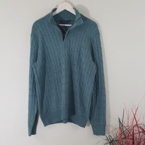Polo Ralph Lauren Green Chunky Knit Sweater